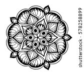 mandalas for coloring book.... | Shutterstock .eps vector #578258899