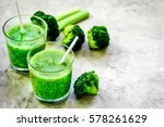 green vegetable smoothie in...   Shutterstock . vector #578261629