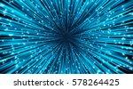 vector abstract. burst lines... | Shutterstock .eps vector #578264425