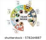 flat design illustration... | Shutterstock .eps vector #578264887