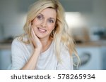 portrait of cheerful middle... | Shutterstock . vector #578265934