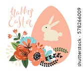 easter illustration with... | Shutterstock .eps vector #578266009