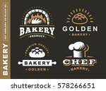 Set Bread Logo   Vector...