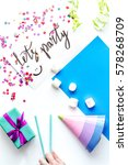 concept birthday party top view ... | Shutterstock . vector #578268709
