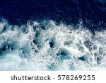 Blue Sea Waves With A Lot Of...
