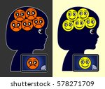 social networks and wellbeing....   Shutterstock . vector #578271709