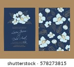 navy blue wedding invitation... | Shutterstock .eps vector #578273815
