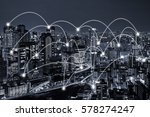 network connected city concept...   Shutterstock . vector #578274247