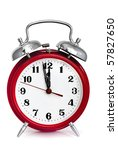 old red alarm clock  showing... | Shutterstock . vector #57827650