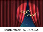 curtain red. the end message.... | Shutterstock .eps vector #578276665