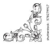vintage baroque ornament retro...   Shutterstock .eps vector #578279917