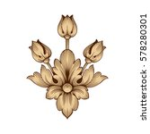 vintage baroque ornament retro... | Shutterstock .eps vector #578280301