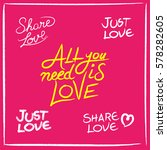 love concept set of hand drawn... | Shutterstock .eps vector #578282605