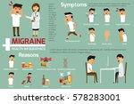 migraine headaches infographics.... | Shutterstock .eps vector #578283001