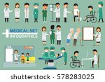 doctor and medical set with... | Shutterstock .eps vector #578283025