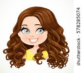 beautiful brunette girl with... | Shutterstock .eps vector #578285074
