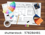 architecture technical... | Shutterstock .eps vector #578286481