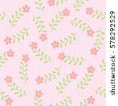 vector seamless floral pattern... | Shutterstock .eps vector #578292529