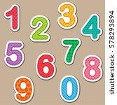 numbers from zero to nine.... | Shutterstock .eps vector #578293894