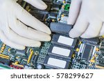 electronic circuit board setup... | Shutterstock . vector #578299627