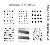 vector set of grunge brush... | Shutterstock .eps vector #578304481