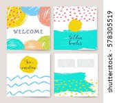 summer collection. sea... | Shutterstock .eps vector #578305519