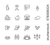 business and office set icons... | Shutterstock .eps vector #578308324
