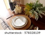 dishs on the table in kitchen... | Shutterstock . vector #578328139