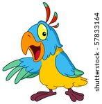Cartoon Parrot Presenting With...