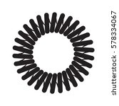 vector image of metal springs | Shutterstock .eps vector #578334067