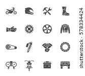motorcycle parts and gear icon... | Shutterstock .eps vector #578334424