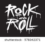 hand draw sketch rock and roll... | Shutterstock .eps vector #578342371