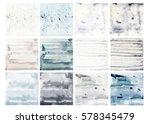 watercolor texture collection ... | Shutterstock . vector #578345479
