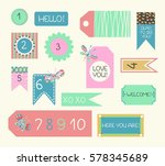 collection of color labels ... | Shutterstock .eps vector #578345689