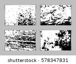 set of four old wall grunge... | Shutterstock .eps vector #578347831