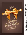 brown festive greeting card or... | Shutterstock .eps vector #578350909