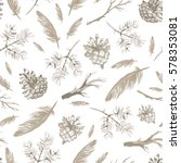 seamless pattern with hand... | Shutterstock .eps vector #578353081