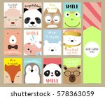 pink blue green collection for... | Shutterstock .eps vector #578363059