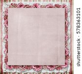 vintage background with a... | Shutterstock . vector #578363101