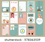 pink blue collection for... | Shutterstock .eps vector #578363539
