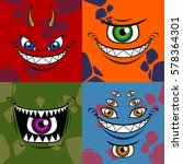 set of different scary monsters ... | Shutterstock .eps vector #578364301