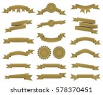 embroidered bronze ribbons and... | Shutterstock . vector #578370451