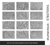 collection of textures  brushes ... | Shutterstock .eps vector #578370541