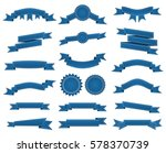 embroidered blue ribbons and... | Shutterstock . vector #578370739