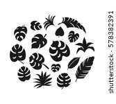 set of hand drawn tropical... | Shutterstock .eps vector #578382391