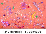 colorful party attributes with... | Shutterstock . vector #578384191