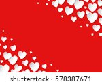 valentine's day card with... | Shutterstock .eps vector #578387671