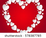 heart with copy space flat lay... | Shutterstock .eps vector #578387785