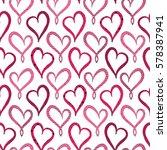 valentine's day violet hearts... | Shutterstock .eps vector #578387941