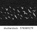 flying birds silhouettes on... | Shutterstock . vector #578389279